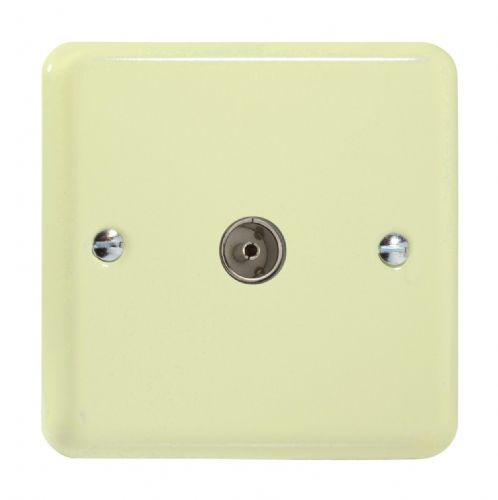 Varilight XY8.WC Lily Pastel White Chocolate 1 Gang Co-Axial TV Socket